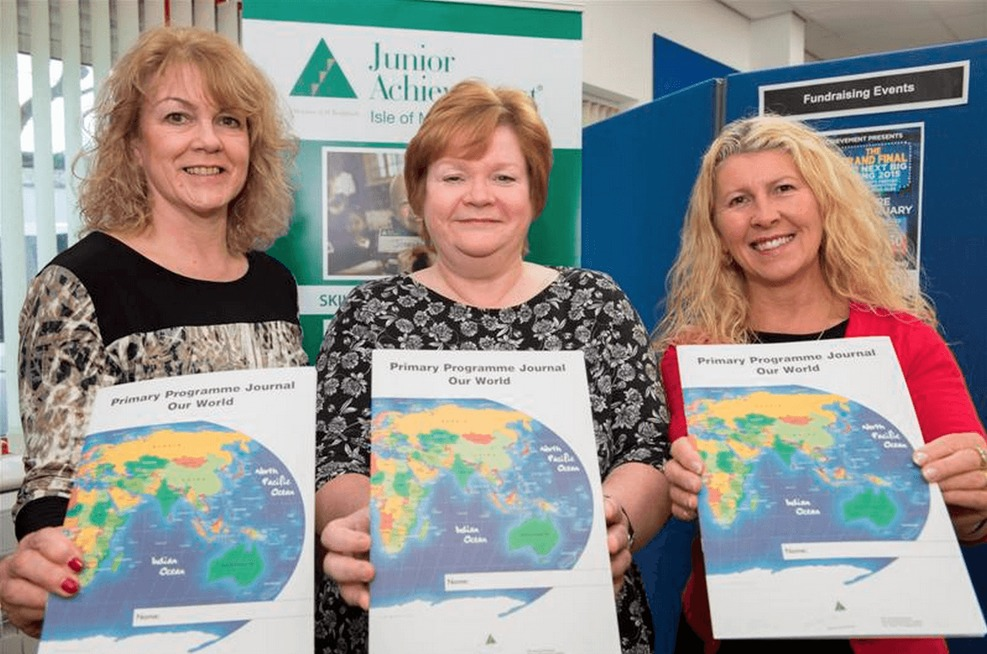 Stephanie Stock, Sue Cook & Joy Spence of JA Isle of Man