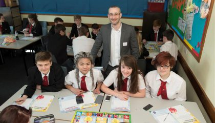 Students taking part in the 'It's All About Money' programme
