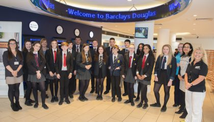 Students attending the Barclays open day