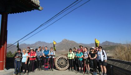 A five-day sponsored trek along the Great of Wall China has raised more than £14,000 for Manx charity Junior Achievement.