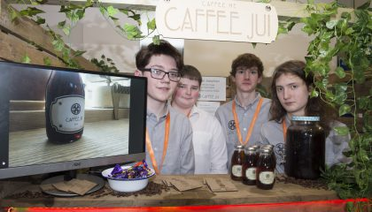 A team from Ramsey Grammar School have won the Boston Group Award for Student Company of the Year 2018 as part of the Junior Achievement Company Programme.