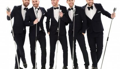 Britain's number one vocal harmony group, The Overtones, will be back performing live at the Villa Marina on Saturday March 18, 2017 in aid of Manx charity Junior Achievement.