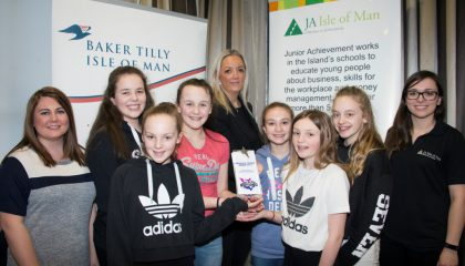 Act Natural – Frankie Cullen, Anna Harris, Freya Morris, Olivia and Tahlia Nicholl-Clarke and Emily Sweetman – received the highest number of votes from the Gaiety Theatre audience out of the 14 finalists on the night of Manx charity Junior Achievement's talent contest for 10 to 18-year-olds.