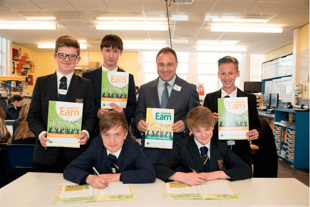 Students taking part in the Junior Achievement Learn to Earn Programme