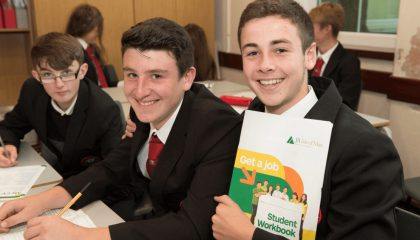Students taking part in the 'Get a Job' programme